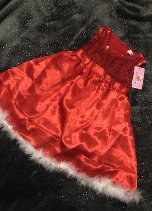 Платье с пайетками 90,110см