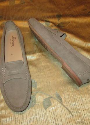 Мокасины sioux туфли кожаные (замшевые) балетки лоферы