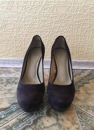 Туфли из искусственной замши, размер 39