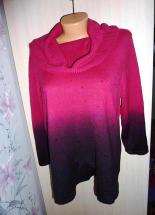 Красивый свитерок george, размер l-xl , градиент, сток.