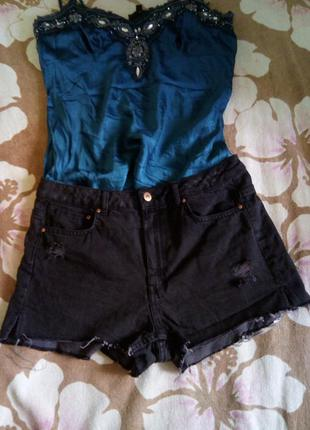 Джинсовые короткие шорты h&m