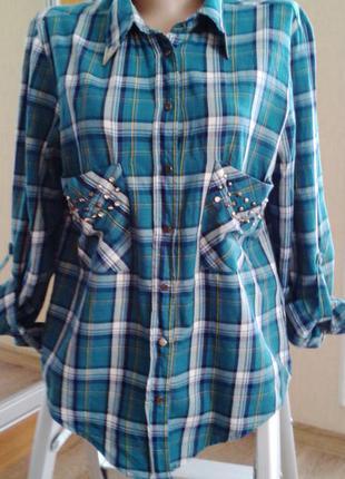 Хлопковая стильная рубашечка
