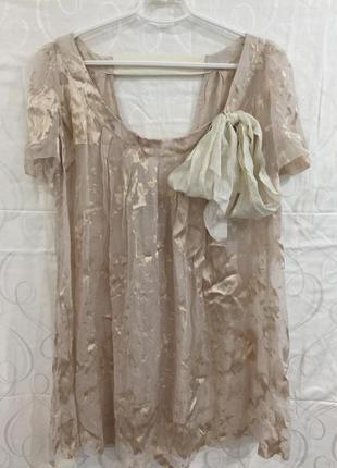 Шёлковая блузка туника all saints