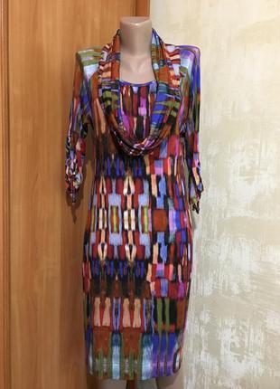 Оригинальное трикотажное платье,реглан с хомутом!!