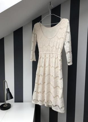 Нежное кремовое платье asos
