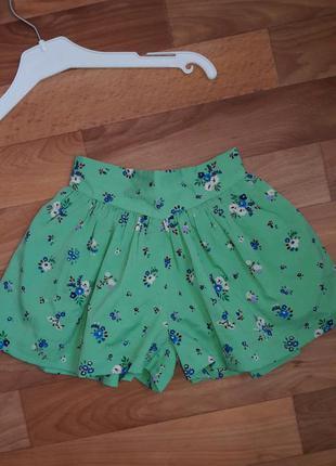 Яркие шортики-юбка на коттоновой подкладке,  р. 12-18мес.
