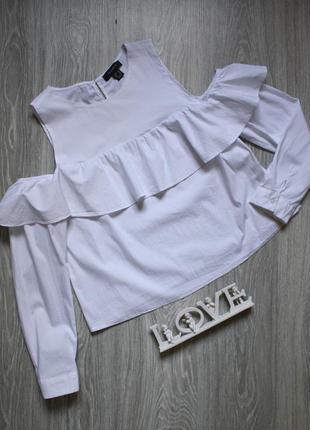 Блуза с воланом и открытыми плечами р. 52-54