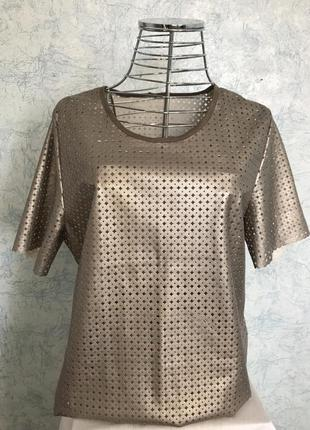 Блуза бронзовая эко- кожа