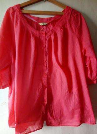 Натуральная блуза очень большого размера