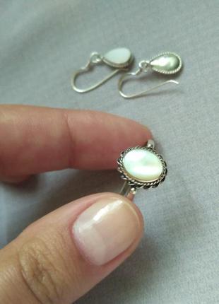 Скидка серебряное кольцо с лунным камнем