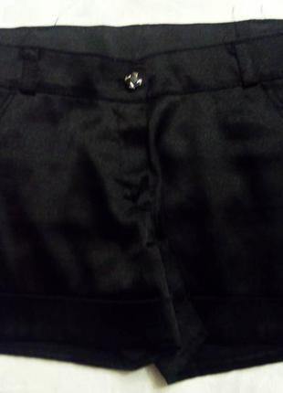 Летни шортики, глянцевый черный цвет