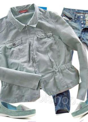 Легкий пиджак размер 48-50 55% лен бренд  laura di sarpi