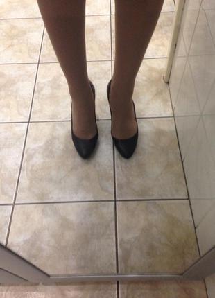 Туфли кожаные на каблуке just cavalli