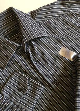 Мужская рубашка gucci оригинал  размер ворот 40. 15 1/2
