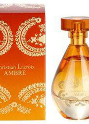 Парфумированая вода. christian lacroix ambre