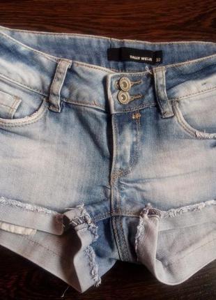 Суперские джинсовые шортики на подростка tally weijl