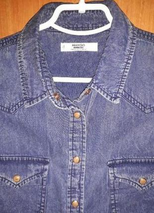 Рубашка джинсовая женская mango