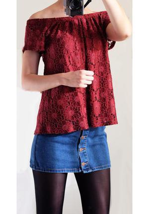 Кружевная кофта блуза peacocks