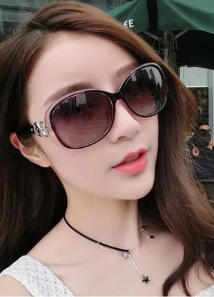 Супер красивые солнцезащитные очки цвет фиолетовый