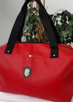 Красная спортивная/дорожная сумка