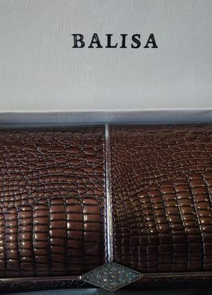 Женский кожаный лаковый кошелек balisa