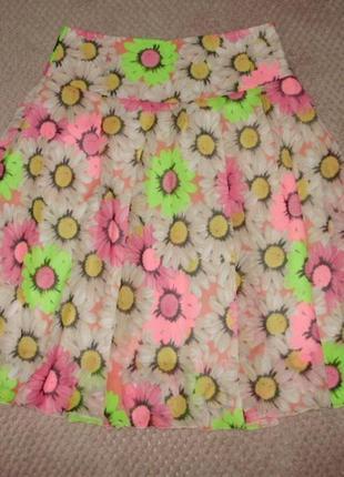 Легкая шифоновая юбка