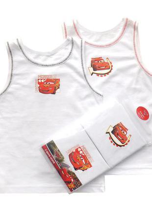 Комплeкт для мальчика на 2-3года майки маeчка с тачками