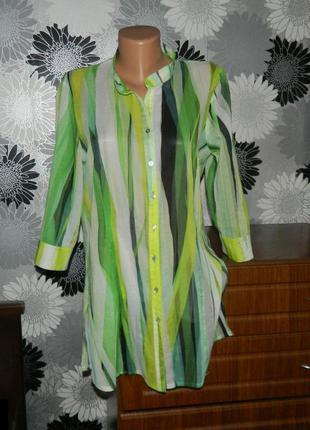 Блуза рубашка длинная laura di sarpi m 10 12 38 40 44 46