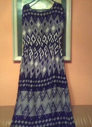 Длинное платье в пол в стиле боххо