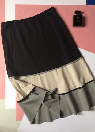 Купить юбку льняную чёрную в шафе большой размер