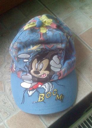 Классная мультяшная коттоновая кепка, объем 52 - 56 см.