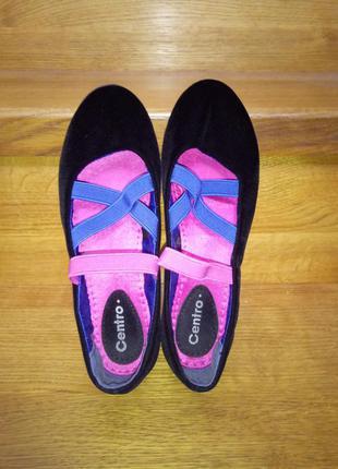 Балетки, туфли бархат