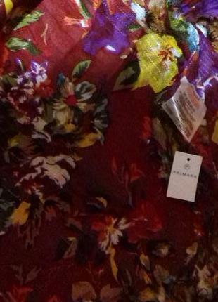 Фирменный шарф primark с серебристой нитью , на.