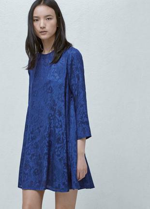 Mango красивое нежное невесомое платье синего цвета размер s-m