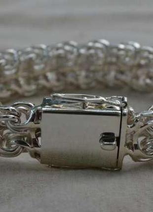 Серебро мужской браслет  рамзес.
