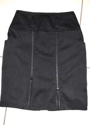 Классическая юбка с молниями