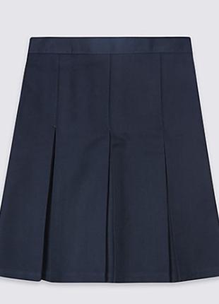 Новая школьная синяя юбка 6-7 лет бренд m&s спенсер англия