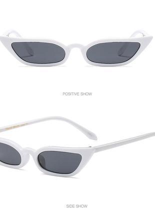 Белые пластиковые очки лисички sci-fi (скай фай)