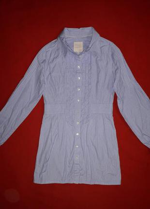 Трендовое коттоновое платье-рубашка в полоску inwear