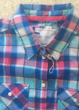 Женская рубашка в клеточку piazza italia