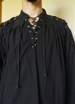 Дизайнерская лянная рубашка ручной работы leonardo carbone