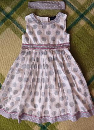 Легкое летнее платье marks & spencer (маркс и спенсер) на 4-5 лет