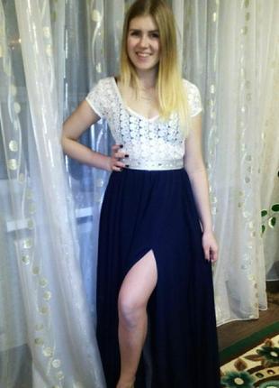 Выпускное платье, ручной работы.