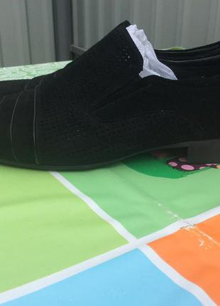 Замшевые туфли dino ricci 46р (31см)