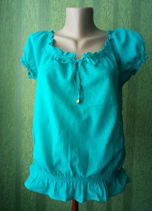Легкая бирюзовая блуза new look