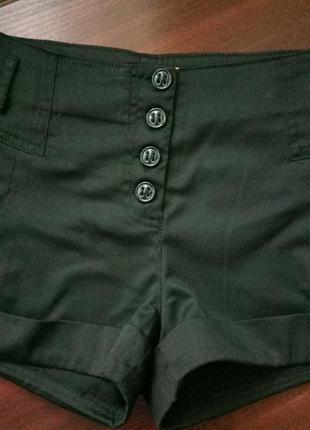 Черные тканевые шорты la&b&la