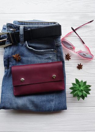 Кожаный кошелек, ручная работа