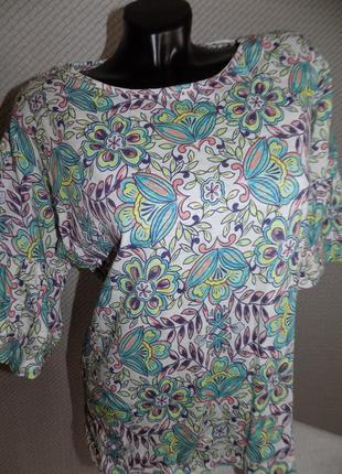 Хлопковая блуза, красивенных оттенков