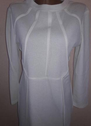 Белоснежное платье миди