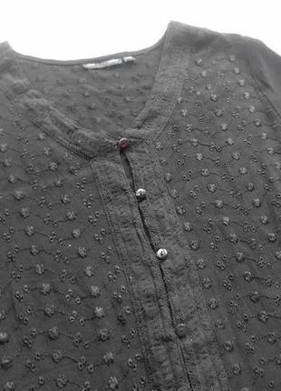 Ellos. крепдешиновая блуза с вышивкой. 50 размер.